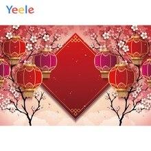 Yeele New Year Chinoiserie Lantern Decor Customized Photography Backdrops Personalized Photographic Backgrounds For Photo Studio