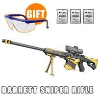 CS Game Barrett Rifle Manual Launch Water Gun Cosplay Airsoft Air Gun Outdoor Fun Sports Airsoft
