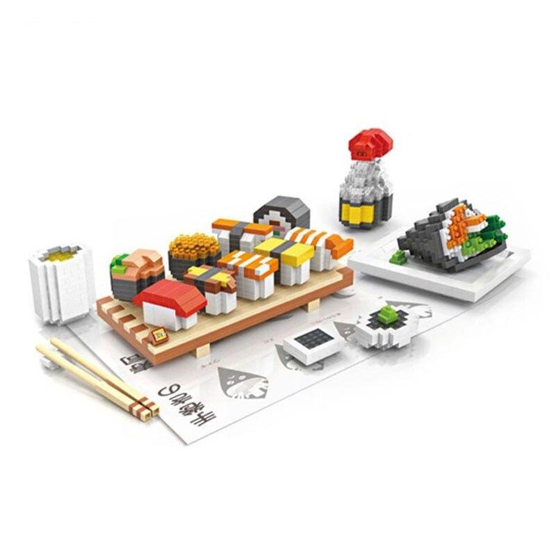 LOZ 9392 1360 pcs blocs de diamant Sushi ensemble repas alimentaire assemblage modèle construction petites pièces briques jouets éducatifs pour enfants