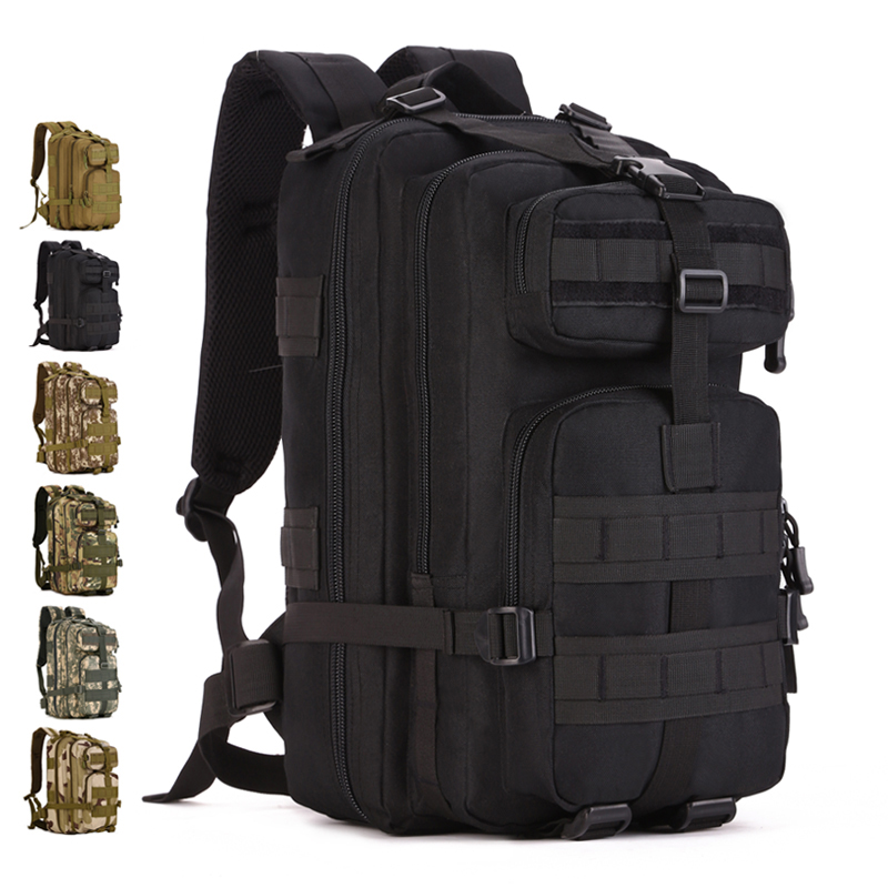 Outdoor assault Backpack 30L-40L Nylon Camo Tactical MOLLE Climber Travel Camping Hunting Cycling 14 laptop woodland camo unisex tactical assault backpack camping travel bag multicam combination mountaineering shoulders backpack