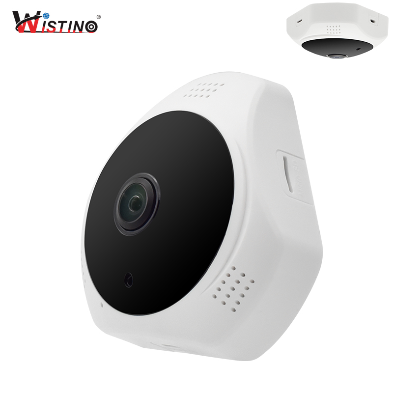 Wistino 960P CCTV Security VR Panoramic Camera WiFi Night Vision 360 View Cameras P2P Surveillance Video Baby Monitor V380 Alarm