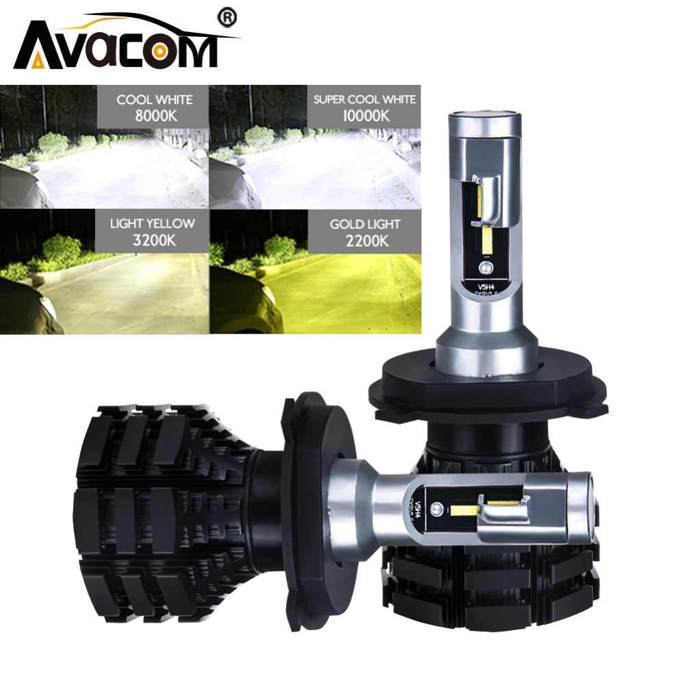 Avacom LED H1 H3 H4 H7 H15 H11 Car Lights Bulb 12V 24V 6500K 50W HB3 HB4 9012/Hir2 LED Ice Lamps For Auto Ampoule Car Styling
