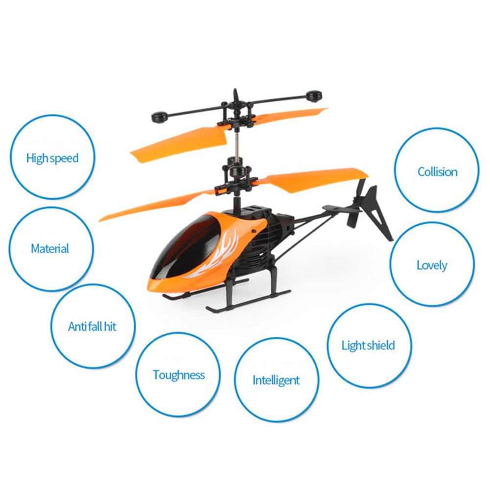 Flying RC Helicopte Toy Mini Outdoor Drone Flying Infrared Induction LED Light Induction Remote Control Aircraft For Kids Toys
