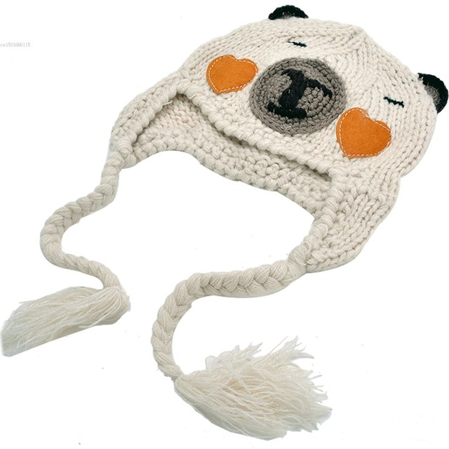 2dff035599b Retail Super Lovely Children Winter Crochet Hats Animal Bear Styles Baby  bear Beanie hat 3 color