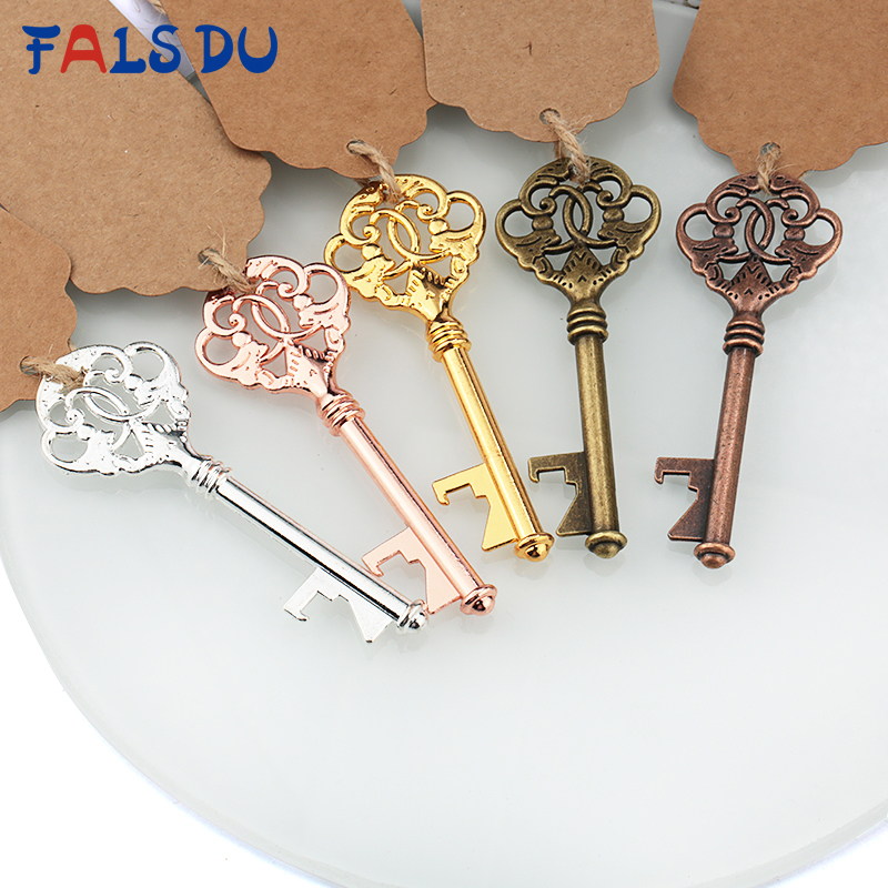 Retro Metal Portable Key Shaped Beer Bottle Opener Bar Key Ring Wedding Souvenir Creative Gift For Party Kitchen Accessories