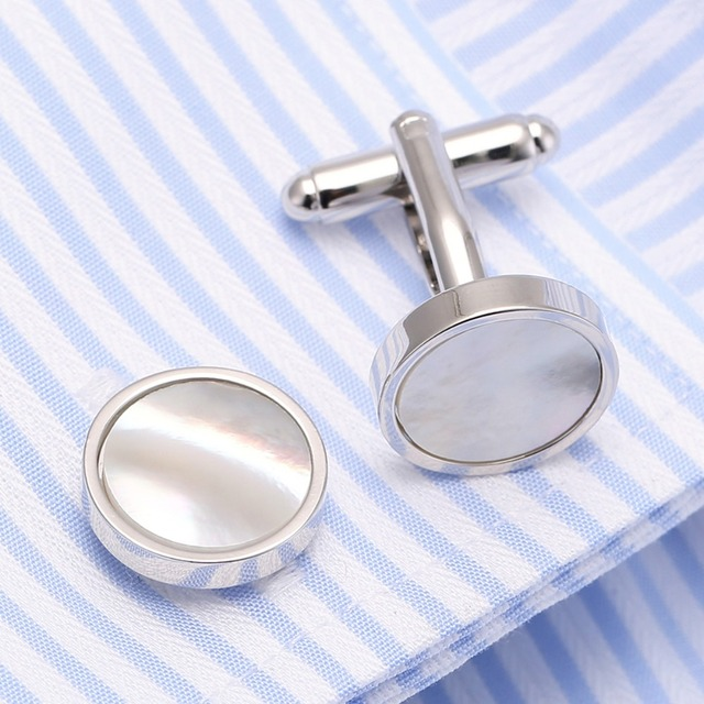 Jewelry Necktie Shell Tie Bar Cufflinks Clasp Clip Wedding Cuff Links Pin Ship 15
