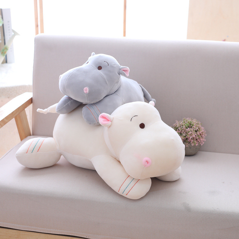 32/42 Cm Hippopotamus Animals Doll Cushion Cute Plush Toys Sofa Pillow Car Seat Cushion Decoration Kids Birthday Gift