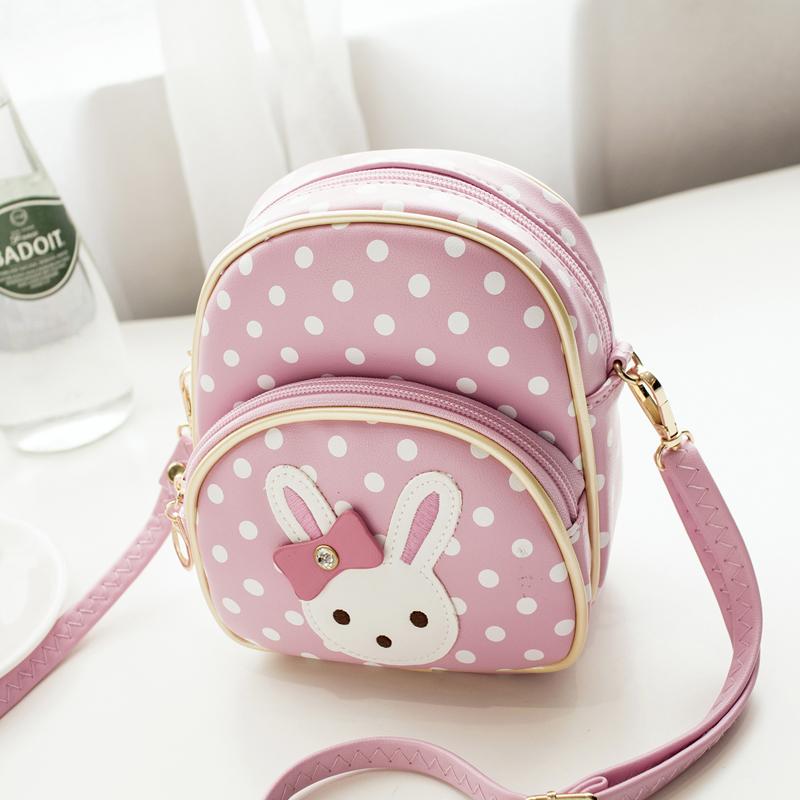 04f1f9c6888b Mini Small Backpacks for Teenage Girls Bunny Women Cute Backpack Leather  Polka Dot Bow Mochila Pink Mochila Feminina Rabbit Ears