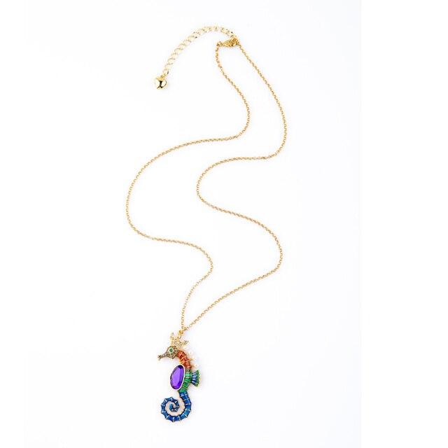 Women's Enamel Sea Horse Necklace 4