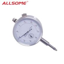 ALLSOME 10/0. 01 мм Микрометр измерительный прибор Круглый циферблат индикатор Датчик вертикальный контакт цифровой микрометр HT1605