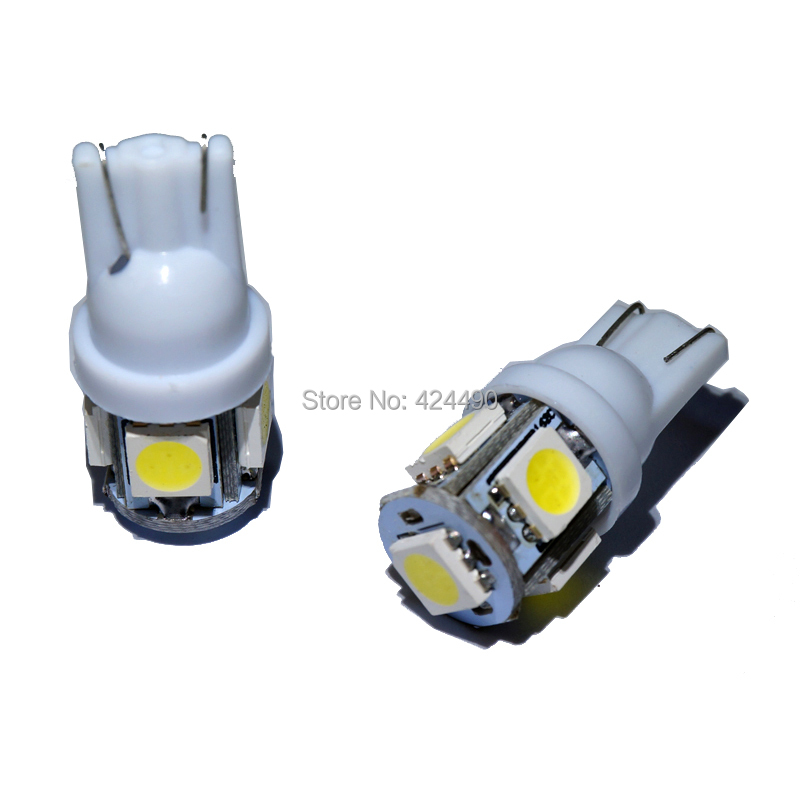 4PCS High Quality T10 W5W 5050 5 SMD Car Interior Lights 168 194 LED DC 12V  Bulbs 5smd Clearance Lamps 5led Marker