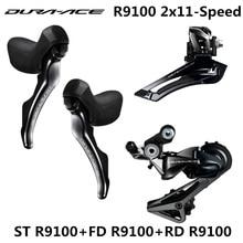SHIMANO R9100 Groupset DURA ACE R9100 9000 Derailleurs כביש אופניים ST + FD + RD קדמי אחורי הילוכים כפולה בקרת מנוף הסטה