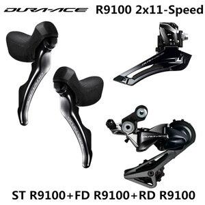 Image 1 - SHIMANO R9100 Groupset DURA ACE R9100 9000 Derailleurs כביש אופניים ST + FD + RD קדמי אחורי הילוכים כפולה בקרת מנוף הסטה