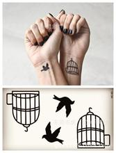 Body Art Waterproof Temporary Tattoos For Men And Women And Couples Simple 3d Bird Design Small Tattoo Sticker HC1060