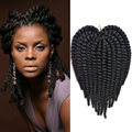 "Havana Mambo Twist Crochet Braids Synthetic crochet braiding hair extensions 70g/12roots/pack 12"" Afro twist crochet hair"