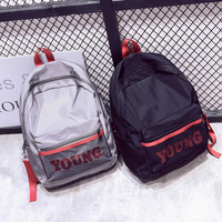 High Quality Reflective Soft Shell Waterproof Couple Backpack For Boys Girls Student School Bag Daypack Black