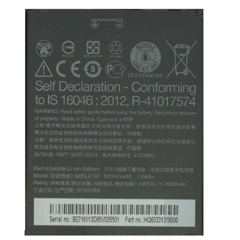 100% New High Quality BOPL4100 Battery 2000mAh For HTC Desire 526 526G 526G 526G+ Dual SIM D526h Cell Phone Bateria