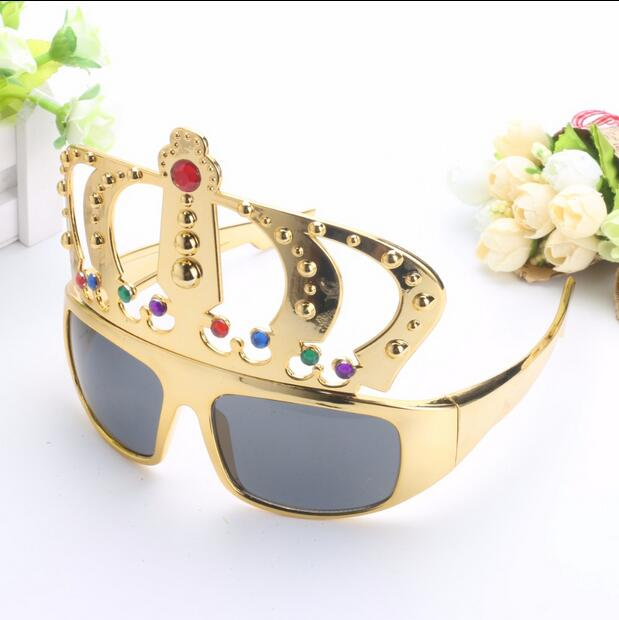 16d6e86439d Beautiful Crown with Jewel Hen Party Costume Glasses Electroplating  Sunglasses for Birthday Gift Party Supplies Decoration
