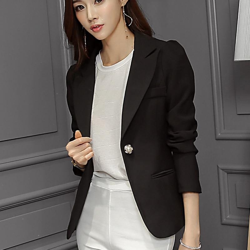 Suits & Sets Flight Tracker Womens Work Jackets Fashion Ladies Formal Puff Long Sleeve Blazer Office Plus Size Blue Black White Suit Blaser Femme Blazers