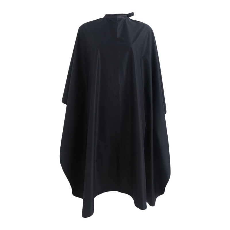 Capes Waterproof Nylon Salon Hair Cut Hairdressing Hairdresser Barbers Cape Gown Cloth Black 150x120cm