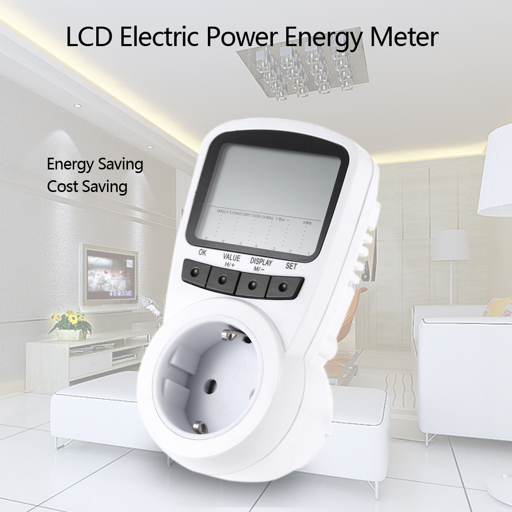 Electric Power Detector : Digital lcd electric power energy meter voltage wattage