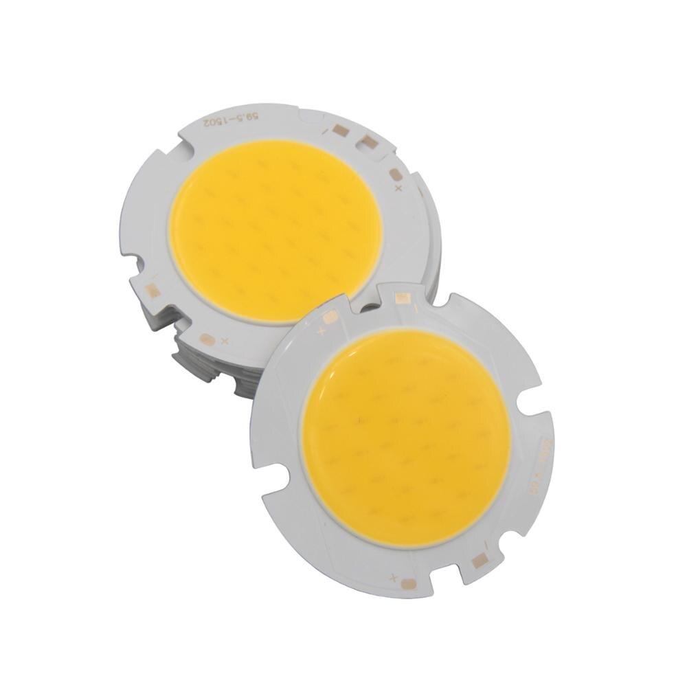 Купить с кэшбэком allcob 1pcs 5pcs 10pcs epistar chips Power LED COB round Light Source Module 10W 15W 20W 30W COB Warn Nature White for downlight
