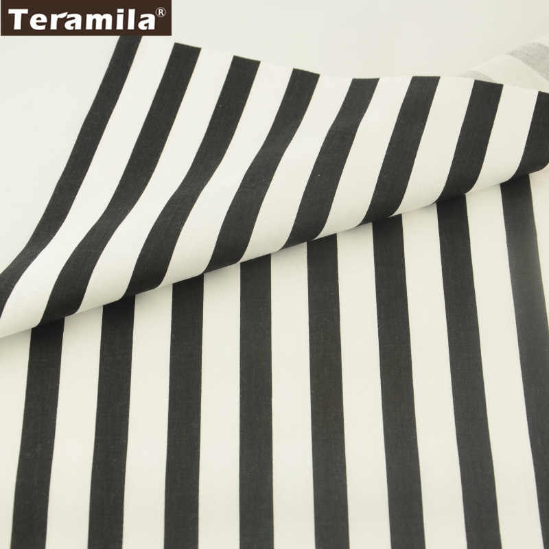2017 Teramila Cotton Fabric News Printed Stripe Pattern Cotton Fabric Tissue Twill Fat Quarter Material Bed Sheet Patchwork