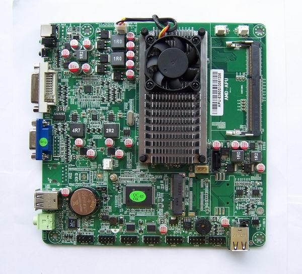 (Second hand)Disassemble industrial low-power APU E350 HTPC Mini-ITX motherboard spike HD dual-core Atom 100% tested good new fan e i5 aluminum htpc computer case e350 h61 hd perfect match i3 i7 e i5