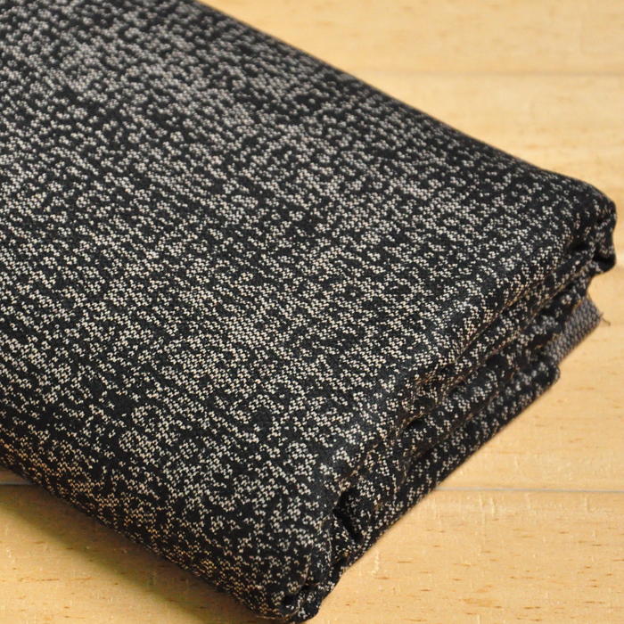 Free ship needle-punched weaved tweed fabric black and drak brown color weaved sold by yard