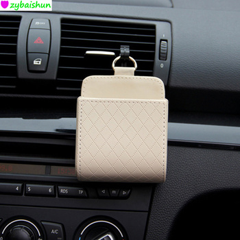 Car Vent Seat Back Tidy Storage Box PU Leather Coin Bag Case Pocket for BMW X-series 3-series 5-series 7-series E F-series image