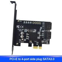 Новинка; Лидер продаж карты адаптера PCI-E4 к MSATA и SATA3.0 Combo PCI Express 6 Гбит/с ASM1061