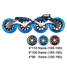 Cityrun Inline Roller Skates Base 4x90/100/110mm Frame & Wheels for Speed Skating for Adult Kids Skates Boots XX2