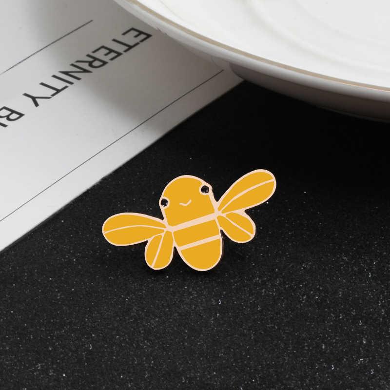 Pekerja Keras Bee Metal Pin Bros Kaktus Palm Enamel Pin Wanita Anak Pakaian Topi Bros Perhiasan Hadiah Aksesoris Dropshipping
