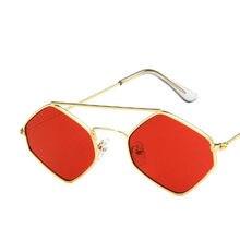 e7d49df1d4af7 90 s Losango Óculos De Sol NOVOS Das Mulheres óculos De Metal Pequeno Mar  meninas UV400 Homens