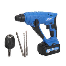 36V rechargeable lithium battery electric hammer drill wall impact drill Concrete 4-26mm screwdriver hammer power tools(China)