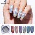 0,5g láser holográfico de uñas brillos Holo Rainbow arte de uñas polvo de punta de uñas cromo polvo de uñas de manicura arte Decoración