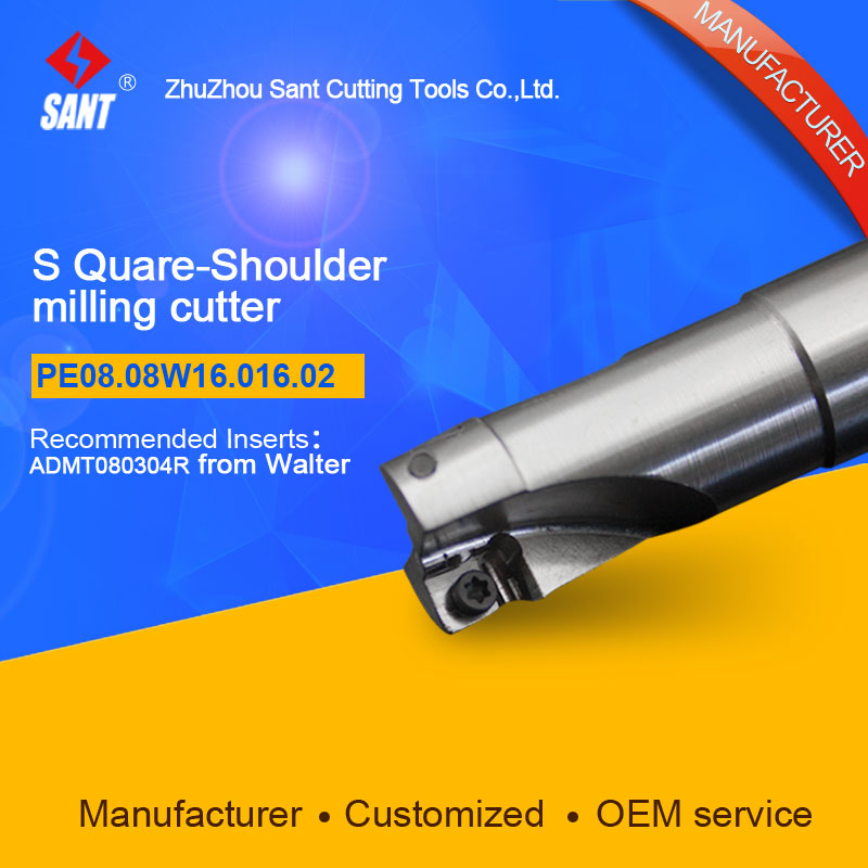 Zhuzhou Sant Tools Indexable Milling cutter PE07.10Z25.025.04.M  with APMT1035 carbide insert selling well at home and abroad high quality indexable milling cutter face milling tools bmr03 025 xp25 m for carbide insert xpht25r1204