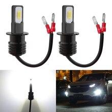 Katur 2pcs H3 LED Bulbs For Car Led Daytime Running Lights Fog Light DRL Auto Lamp 12V 6000K White Standard H3 Socket Super Led