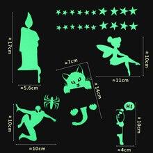 New Luminous Cartoon switch Wall Sticker Decoration Fluorescent Children Room Home Decor
