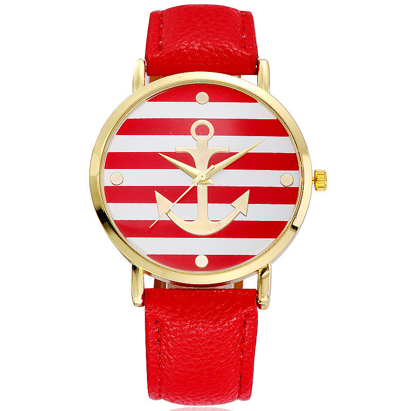 TOP Fashionable Watch for Women with Real Leather Strap