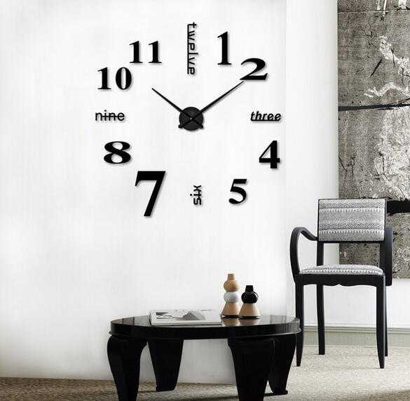 20 Stks Quartz Klokken Fashion Horloges 3d Real Grote Wandklok Overhaast Spiegel Sticker Diy Woonkamer Decor Versterkende Taille En Pezen
