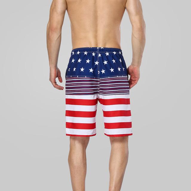 Charmleaks Men Swimshorts American Flag Beach Shorts Swimwear Briefs Man Swimsuits Trunks Sea Short Bottoms