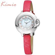 KIMIO Новый Роскошный Кварцевые Часы Водонепроницаемые Relojes Mujer 2016 женщин Часы Мода 6 Цвет Кожаный ремешок Relogios Feminino 515