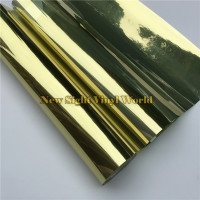 VLT 15% Gold Silver Solar Window Film Tint For Buliding Home Office Size:1.52*30m/Roll