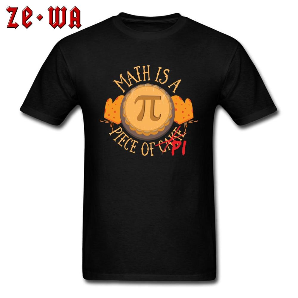 Math Pi -3202 Wholesale Short Sleeve Leisure T-Shirt Cotton Fabric Crew Neck Men Tops Tees Custom T-Shirt Summer/Autumn Math Pi  -3202 black