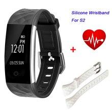 S2 Bluetooth Smart Band IP67 Водонепроницаемый монитор сердечного ритма спортивной деятельности Шагомер фитнес-трекер с Пульт дистанционного Управления для IOS