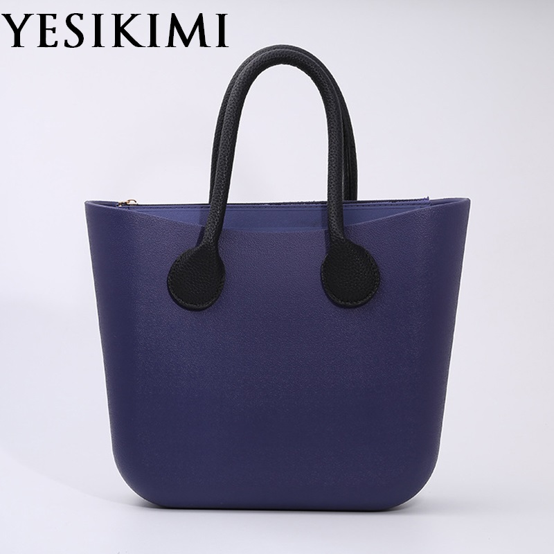 2017 Candy Color Women Silicone Bag Large Size Bolsa O bag Style Beach Purses Si