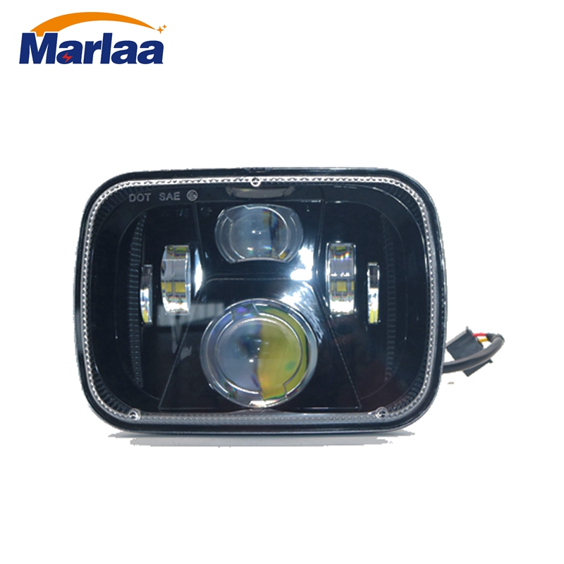 цены Marlaa 5x7 Projector 7x6 LED Headlight Bulb Set Kit Sealed Beam DOT Off Road 6000K Headlamp Light for Jeep Cherokee XJ Nissan
