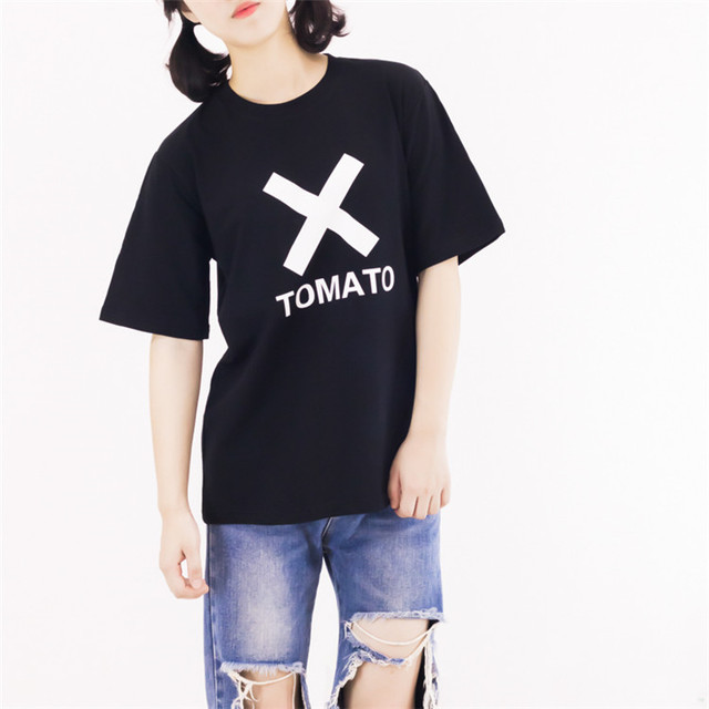 fcafb68043ffd funny streetwear shirts evil tomato tumblr cool tee aesthetic tshirts  letter print hipster short sleeve pure cotton top clothes