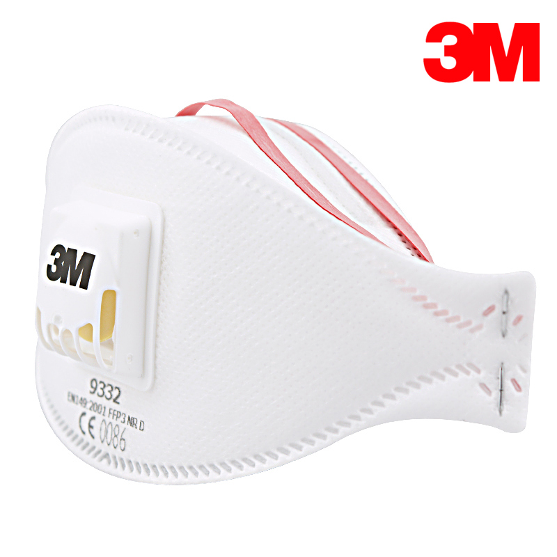 3M 9332 Masks10pcs/Box Anti-pm2.5 Folded Mask FFP3 Approval N99 Cool Flow Welding Mask Safety Respirator Mask GM940